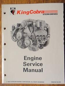 Omc King Cobra Engine Service Manual 508291 Printed 1992 V border=