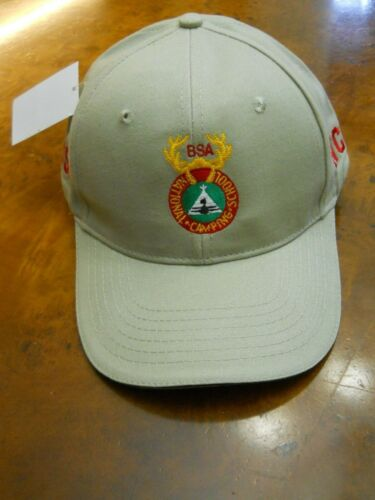 BSA NATIONAL CAMPING SCHOOL TWILL CAP  (NEW WITH TAGS)