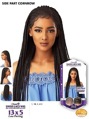 Corn Row Wig (Sensationnel 13x5 Side Part Corn Row Frontal Lace Wig (Free-Part))