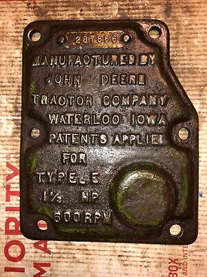 John Deere 1-12 Hp E Hit Miss Engine Governor Cover 287866
