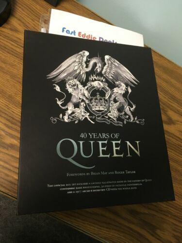 2011 OFFICIAL QUEEN FREDDIE MERCURY BOX SET BOOK CD 40 YEARS OF QUEEN BRAND NEW