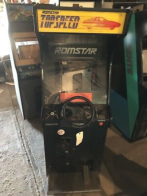1987 Romstar TOP SPEED Arcade Machine Rare Collectible DEDICATED Cabinet