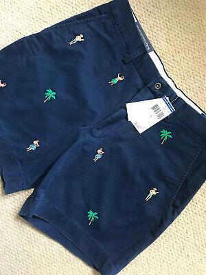 Navy Blue Classic Shorts (RALPH LAUREN POLO NAVY BLUE HAWAII COASTAL CLASSIC FIT SHORTS - 32