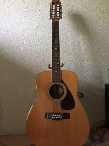 Yamaha 12 string acoustic guitar made in Taiwan