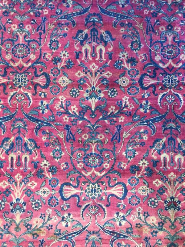 Fantastic Floral - 1910s Antique Oriental Rug - Handmade Carpet - 9 X 12 Ft.