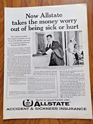 1960 State Farm Insurance Ad   Takes The Money Worry Out Of Being Sick Or Hurt