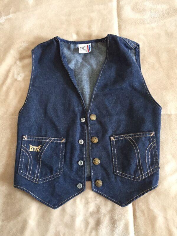 Vintage Billy The Kid Vest Denim Childrens Western Cowboy 60s Unisex Size 10