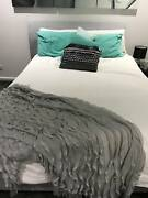 Queen Size Upholstered Bed Head And Base with Mattress Keilor East Moonee Valley Preview