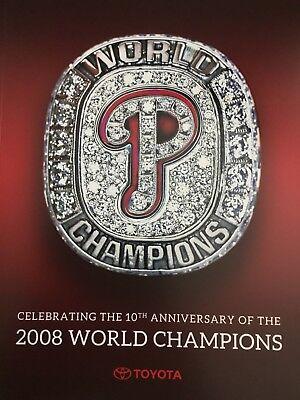 Commemorative 2008 World Series - PHILLIES~2008 WORLD SERIES CHAMPIONS Commemorative Book  10th Anniversary ~SGA