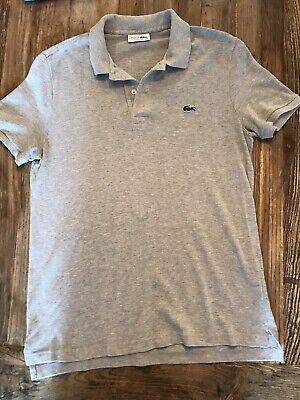 Men's Lacoste Polo Shirt Gray Size 5