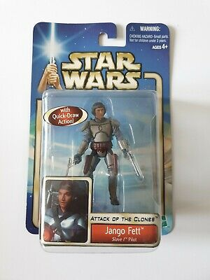 Star Wars Attack of the Clones Figure Jango Fett Slave 1 Pilot New