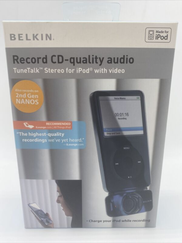 NEW Belkin TuneTalk™ Stereo for iPod With Video-H