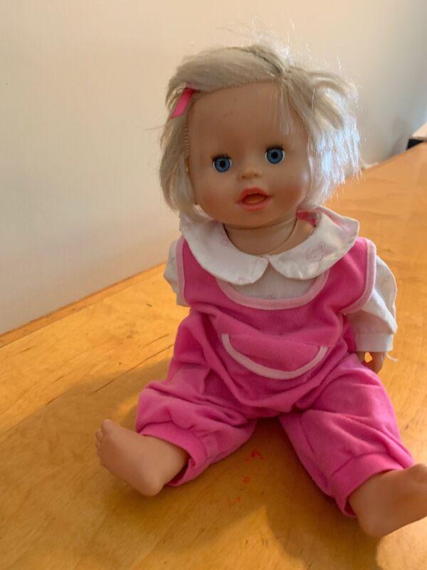 """2007 Mattel Little Mommy Ah Choo Talking Sneezing Baby Doll 14"""" Works B5"""