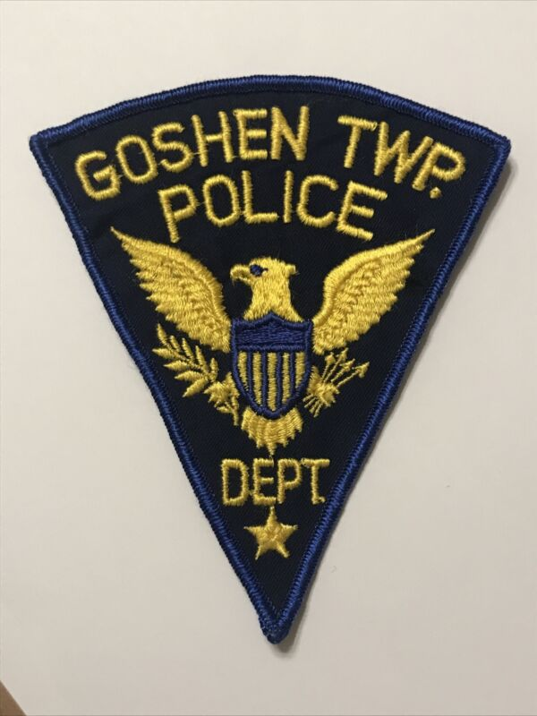 VINTAGE GOSHEN TOWNSHIP OHIO POLICE DEPT PATCH Cheesecloth OH