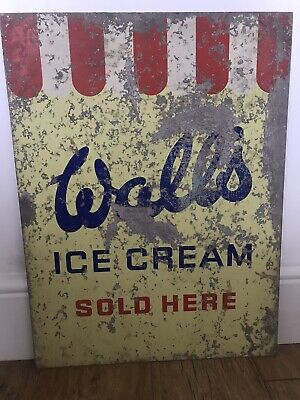 Vintage Walls Sign n0t Enamel D/sided Original Advertising Collectable Old Rare