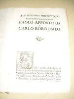 Memorie De'cherici Regolari Di S. Paolo - Barnabiti - Bologna 1703 -  - ebay.it