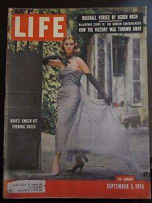 Life Magazine Dior's Smash Hit Evening Dress September 1955 -
