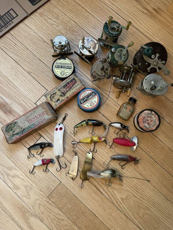 vintage lures reels tackle lot heddon creek chub arbogast