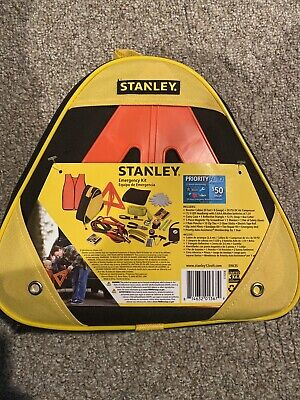 NEW Stanley Emergency Roadside Kit Jumper Booster Cables air compressor 30 piece