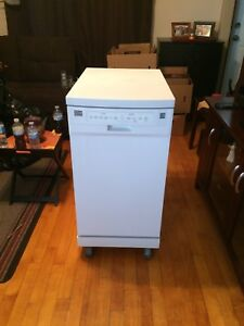 Portable apartment size dishwasher
