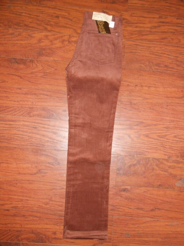 Girls 70s Vintage Wrangler Cord Corduroy Pants Jeans 14 Slim Red/Brown Straight