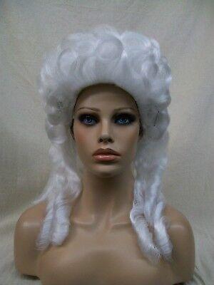 Wig Marie Antoinette (White Baroque Wig Marie Antoinette Colonial Victorian Mrs Santa Claus Snow)