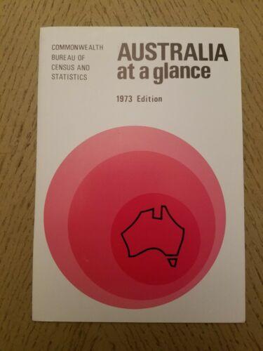 RARE 1973 OFFICIAL Australia At A Glance Bureau Census Statistics Brochure Map