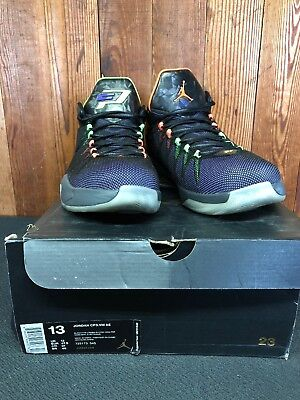 d8b0856bb041 Jordan CP3 VIII Chris Paul AE Black Hyper Electric Green Purple Men Size 13