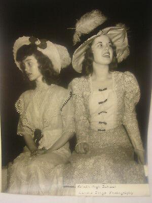 Vintage Black & White Photography Girls Fashion Hats Brush School Lyndhurst Ohio