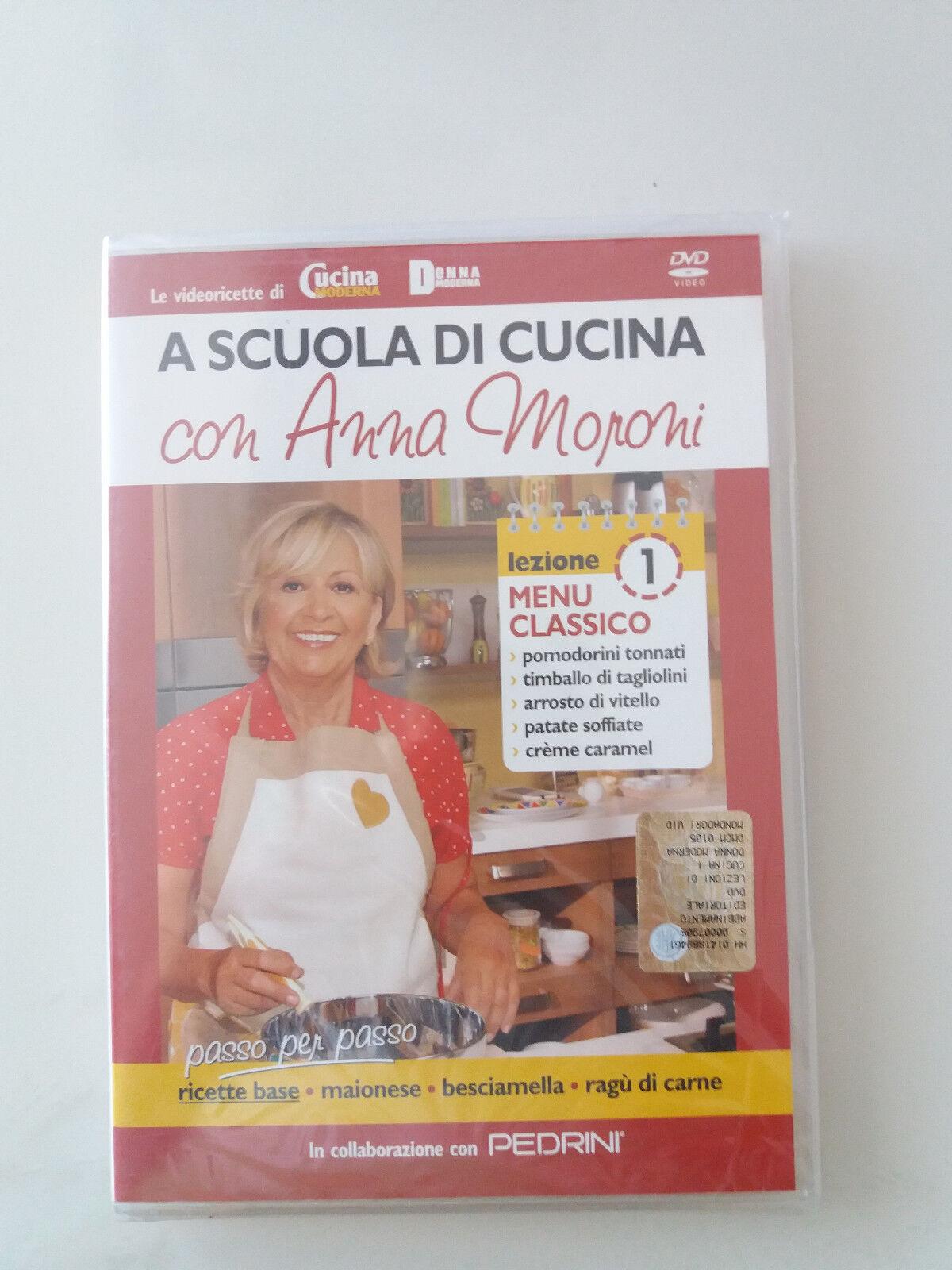 Dvd a scuola di cucina Anna Moroni nuovo vol.1 ricette prova del cuoco