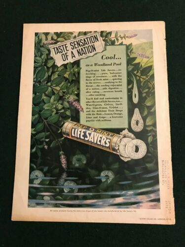 "Life Savers Candy Vintage Print Ad ""Taste Sensation of a Nation"""