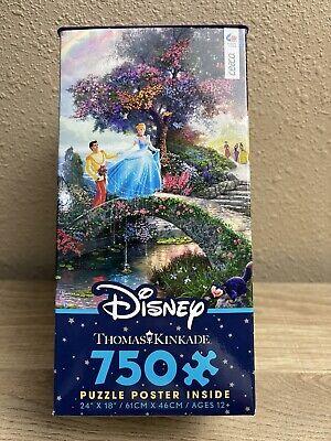 Thomas Kinkade Cinderella Disney 750 Piece Jigsaw Puzzle New