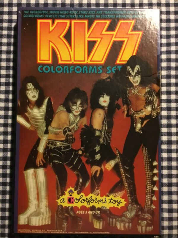 KISS Colorforms complete 1979 Set. Rare Condition. Aucoin