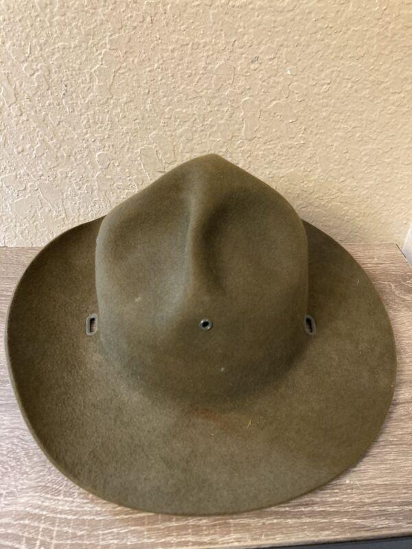 Vintage Boy Scout Master Hat USA Size 7 1/8