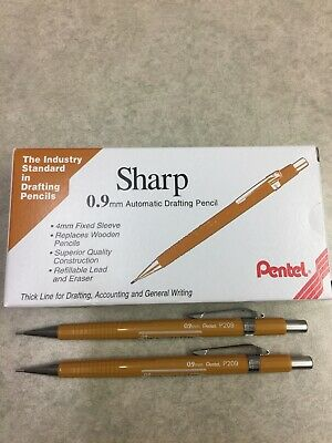 New 2 Each Sharp .9mm Automatic Drafting Pencil P209