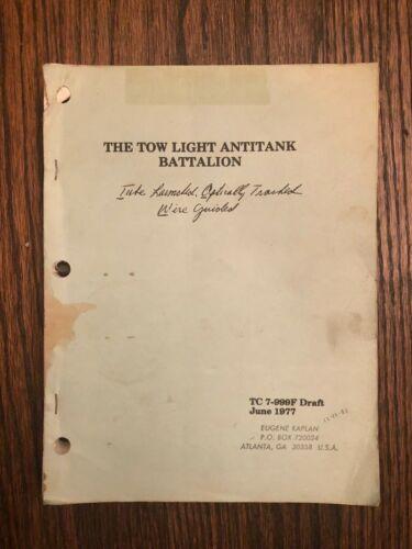 US Army 1977 The Tow Light Antitank Battalion  TLAT TC-999F Draft Guide