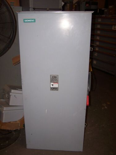 SIEMENS 400 AMP FUSIBLE SAFETY SWITCH HF365R 600 VAC 350 HP MAX NEMA 3R OUTDOOR