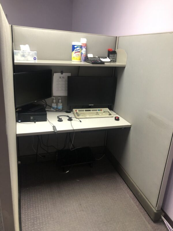 Gray office cubicles 5-4