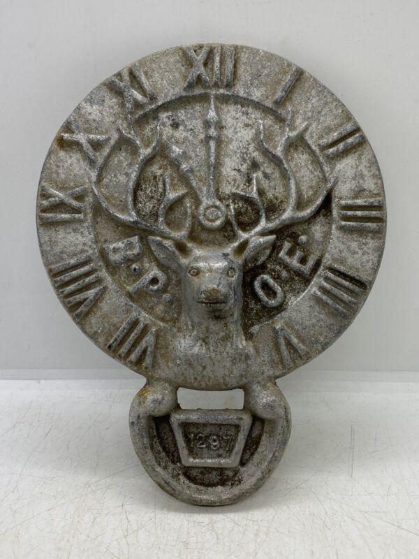 Vintage B.P.O.E. Benevolent Protective Order Elks 1297 Alamosa, CO. Grave Marker