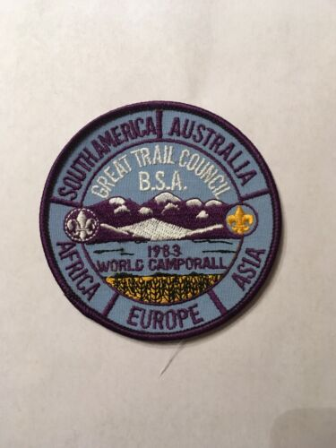 Boy Scout 1983 World Camporall Great Trail Council Patch