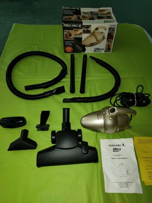 Euro-Pro Ultra Shark Handheld Corded Vacuum Kit w/Hoses Attachments