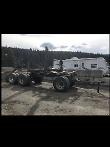 1996 Anser log trailer with truck bolster, ride pipes and scales