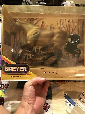 VINTAGE RETIRED BREYER No 3359 Fox Hunting Gift Set In Box Excellent Condition