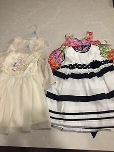 4 dresses 2, 6-12, and 2, 12 months