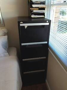 Filing cabinet 4 drawer black Mosman Mosman Area Preview