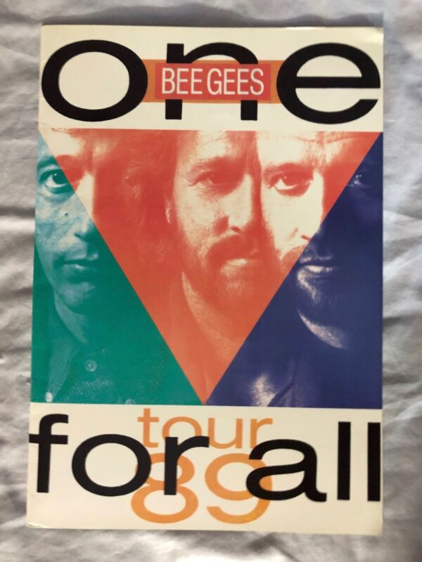 1989 BEE GEES One For All UK Concert Tour Souvenir Book. Ex. Condition.