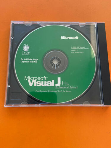 Microsoft Visual J++ Professional Edition Version1.1 With Product Key Open Box