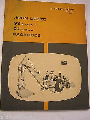 John Deere 93 95 Series A Backhoes Om-u44762 G8 Operators Manual