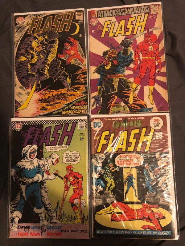 Lot of 4 Bronze Age Flash Comics - 166, 180, 181, 234
