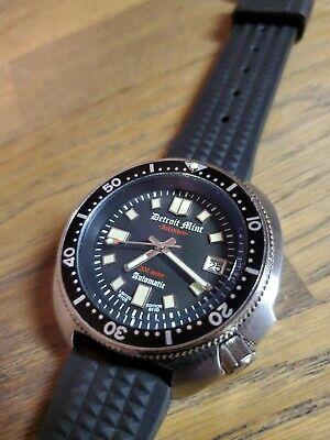 Detroit Mint Islander Willard 6105 Seiko NH35A Automatic Turtle Dive Watch